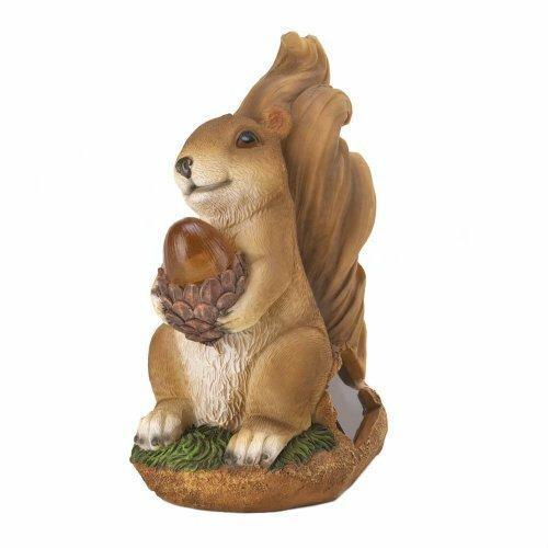 Accent Plus Squirrel Solar Statue