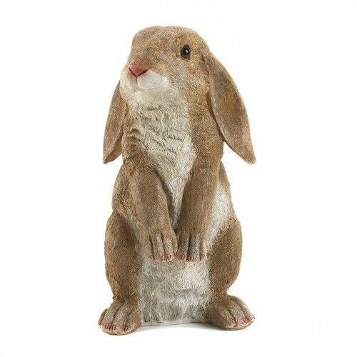 Accent Plus Curious Rabbit Garden Statue