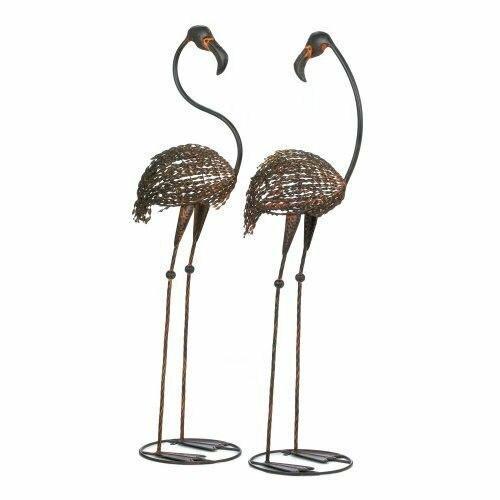 Accent Plus Wild Flamingo Garden Art Duo