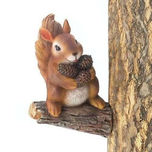 Accent Plus Gathering Squirrel Tree Decor