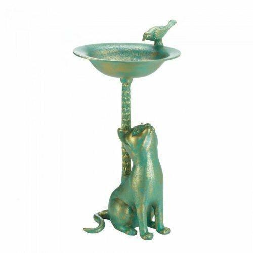 Songbird Valley Cat Birdbath