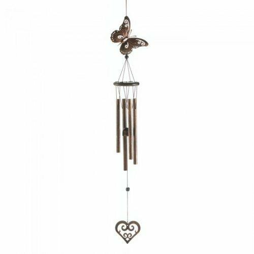 Accent Plus Butterfly And Heart Windchime