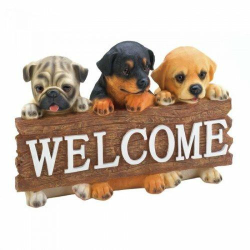 Accent Plus Dog Welcome Plaque