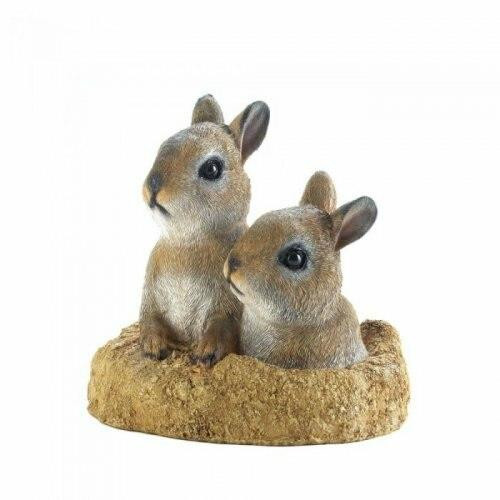 Accent Plus Peek-a-boo Garden Bunnies Decor