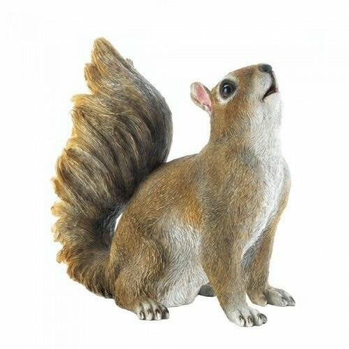 Accent Plus Bushy Tail Squirrel Figurine
