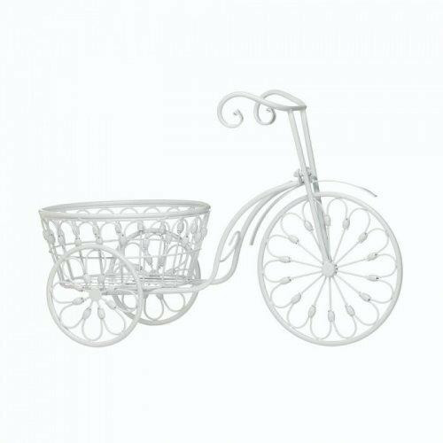 Summerfield Terrace White Bicycle Planter