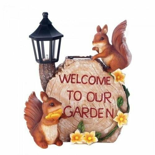 Accent Plus Solar Welcome To Our Garden Squirrels