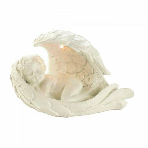 Accent Plus Solar Peaceful Cherub Figurine