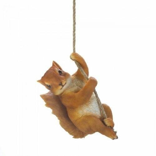 Accent Plus Hanging Squirrel Decor
