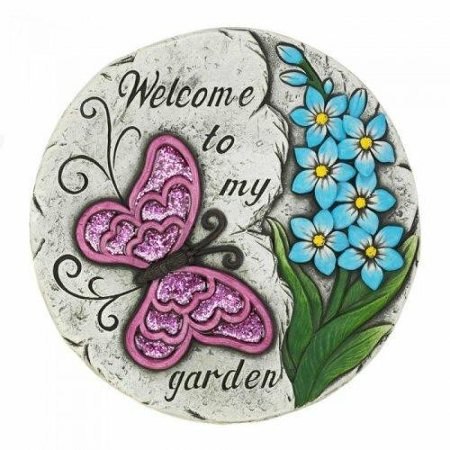 Accent Plus Pink Butterfly Garden Stepping Stone