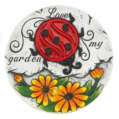 Accent Plus Sunflower Lady Bug Garden Stepping Stone