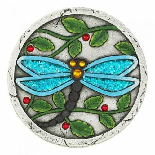 Accent Plus Blue Dragonfly Garden Stepping Stone