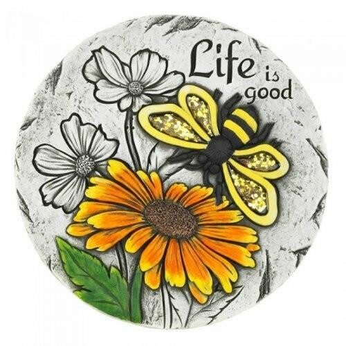 Accent Plus Life Is Good Sunflower Stepping Stone