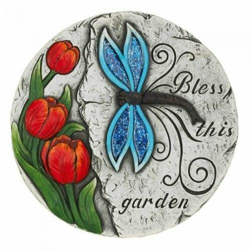 Accent Plus Bless This Garden Stepping Stone