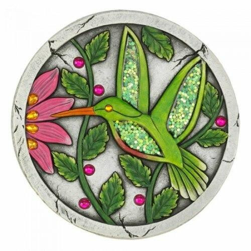 Accent Plus Green Hummingbird Garden Stepping Stone
