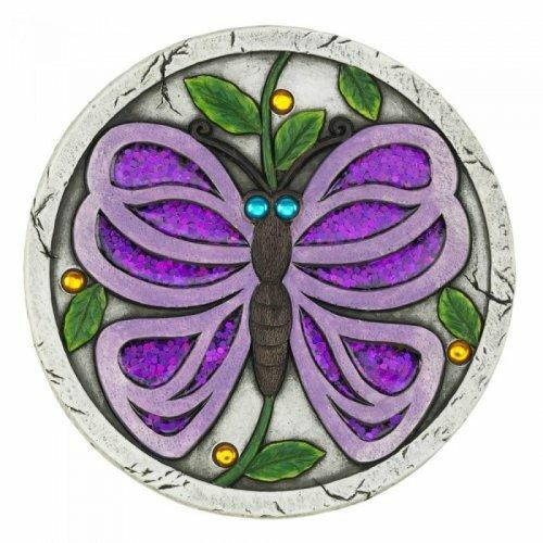 Accent Plus Purple Butterfly Garden Stepping Stone