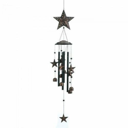 Accent Plus 26and#34; Bronze Stars Wind Chimes