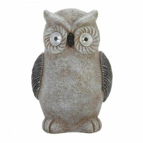 Accent Plus Solar Owl Statue
