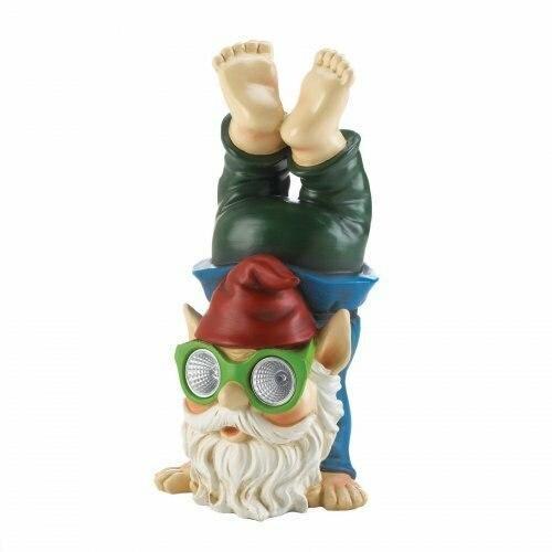 Summerfield Terrace Handstand Solar Gnome Figurine