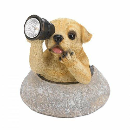 Summerfield Terrace Puppy With Telescope Solar Light