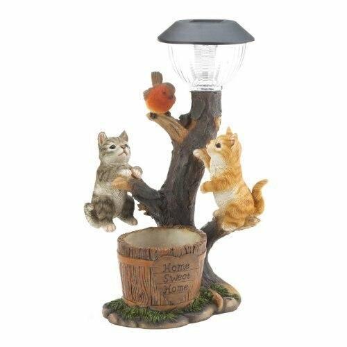 Summerfield Terrace Climbing Cats Solar Light