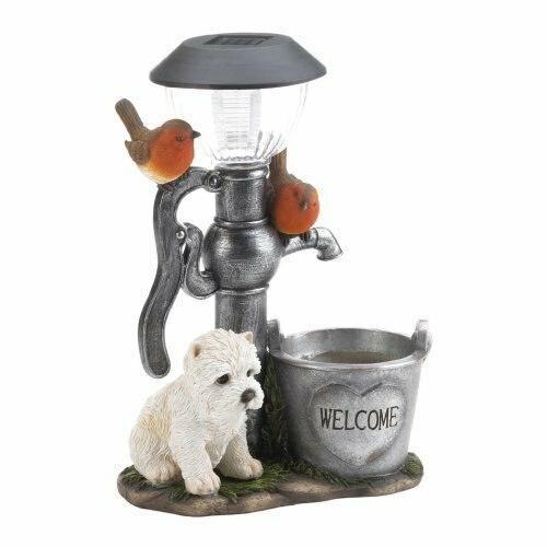Summerfield Terrace Little Pup And Water Pump Solar Light
