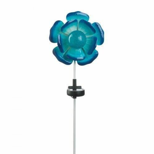 Summerfield Terrace Blue Flower Solar Stake