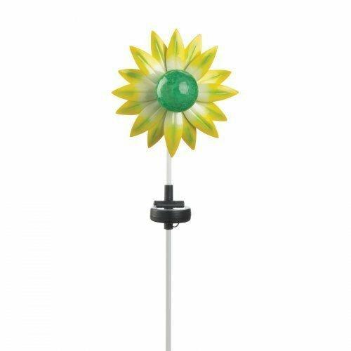 Summerfield Terrace Green Flower Solar Stake