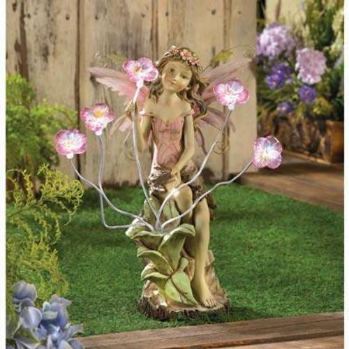 Accent Plus Peony Fairy Solar Statue