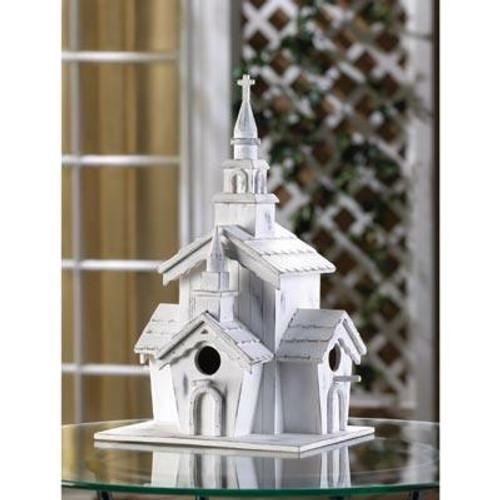 Songbird Valley Little White Chapel Birdhouse