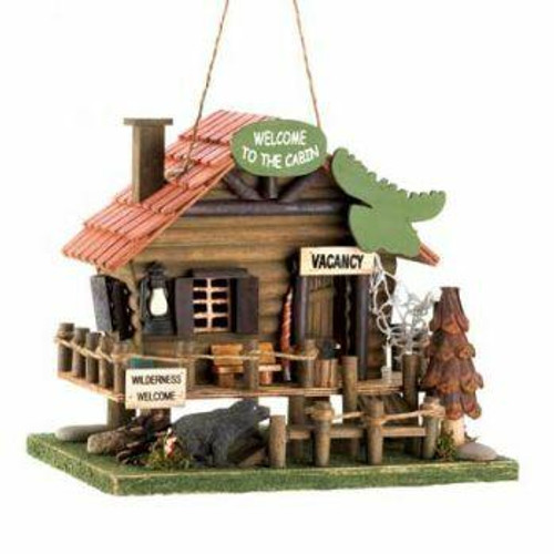 Songbird Valley Welcome To The Cabin Birdhouse
