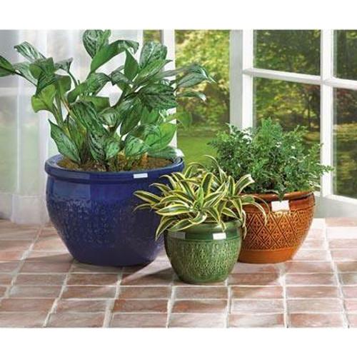 Accent Plus Jewel-tone Flower Pot Trio