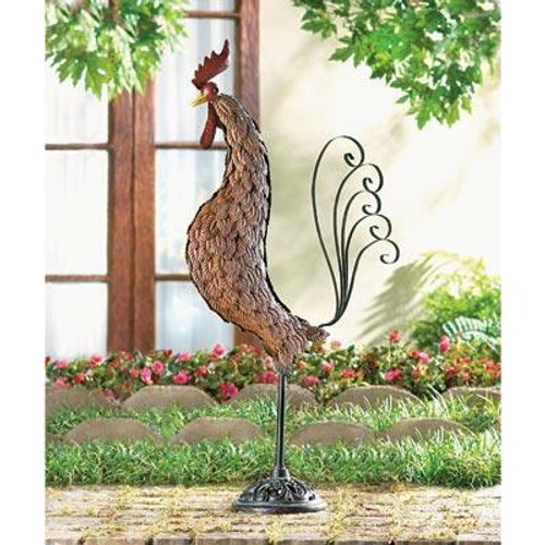 Accent Plus Metal Sculpture Rooster
