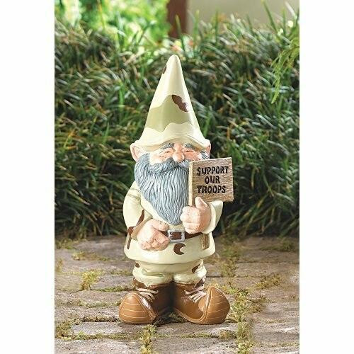 Accent Plus Support Our Troops Garden Gnome