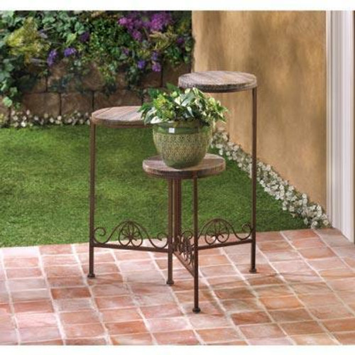 Summerfield Terrace Rustic Triple Planter Stand