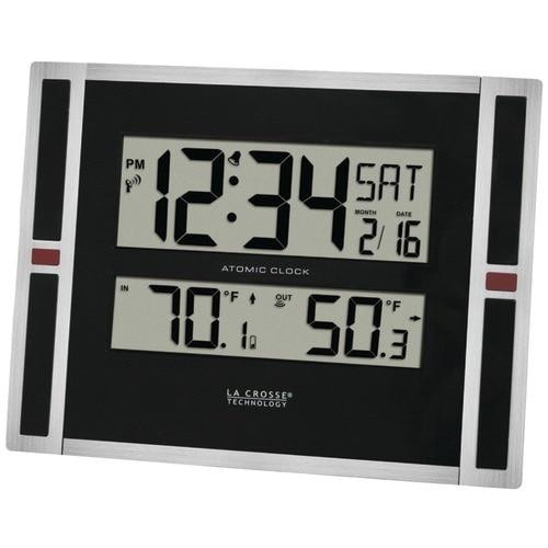 LA CROSSE TECHNOLOGY La Crosse Technology Indoor And Outdoor Thermometer Andamp; Atomic Clock