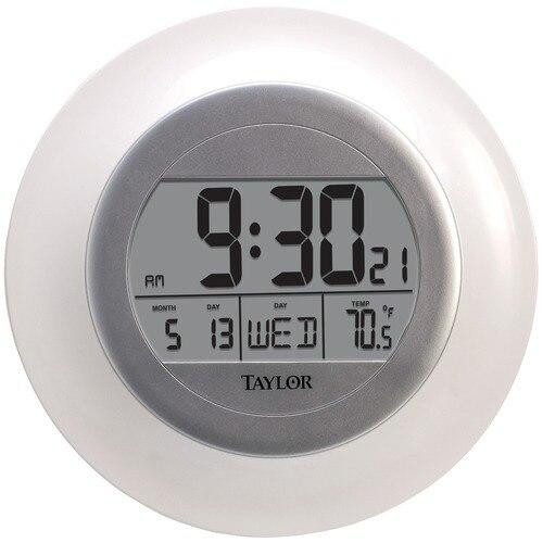 Taylor Taylor Atomic Wall Clock With Thermometer