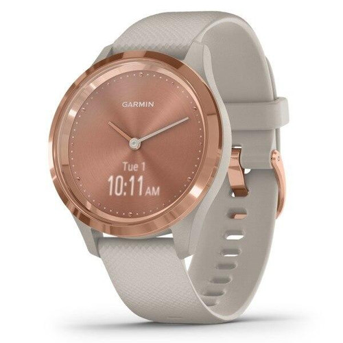 GARMINR Garmin Vivomove 3s Hybrid Smartwatch light Sand With Rose Gold Hardware