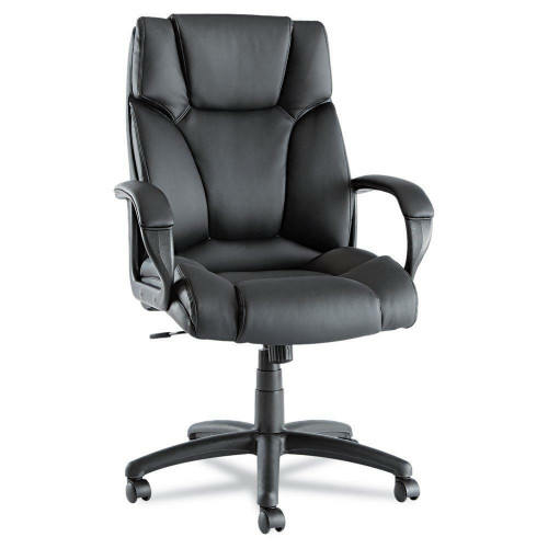 FastFurnishings High-Back Swivel Tilt Black Soft Touch Leather Office Chair
