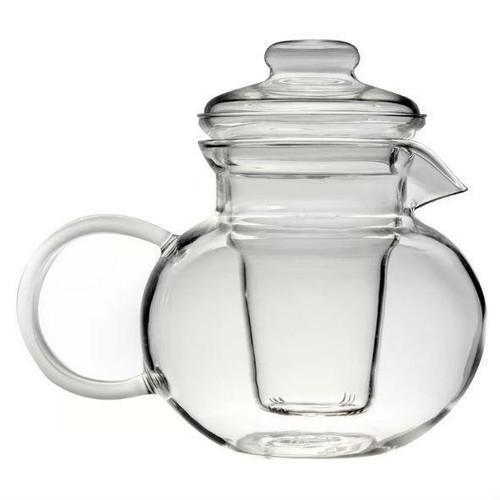 FastFurnishings Borosilicate Glass Stovetop Safe Teapot with Glass Tea Infuser