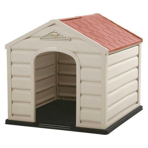 FastFurnishings Sturdy Outdoor Waterproof Polypropylene Dog House for Small Dogs
