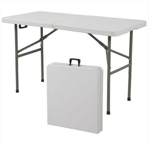 FastFurnishings Multipurpose 4-Foot Center Folding Table with Carry Handle
