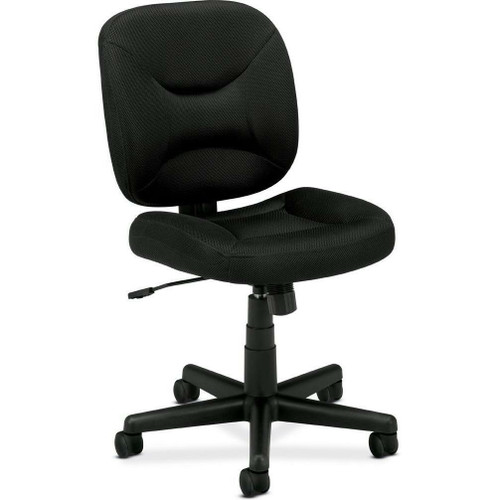 FastFurnishings Black Task Chair Office Chair with Padded Seat