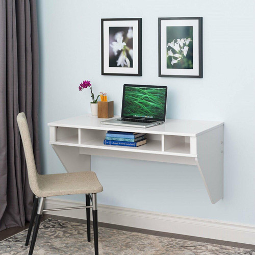 FastFurnishings White Space Saving Laptop Tablet Computer Desk Wall-Mount at any Height
