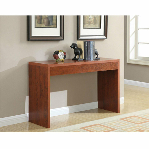 FastFurnishings Cherry Finish Sofa Table Modern Living Room Console Table