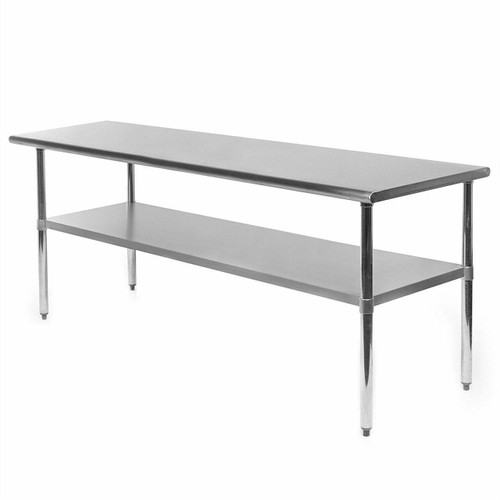 FastFurnishings Heavy Duty 72 x 24 inch Stainless Steel Kitchen Restaurant Prep Work Table