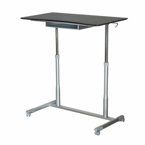 FastFurnishings Espresso Adjustable Height Sitting or Standing Desk Stand Up Computer Table