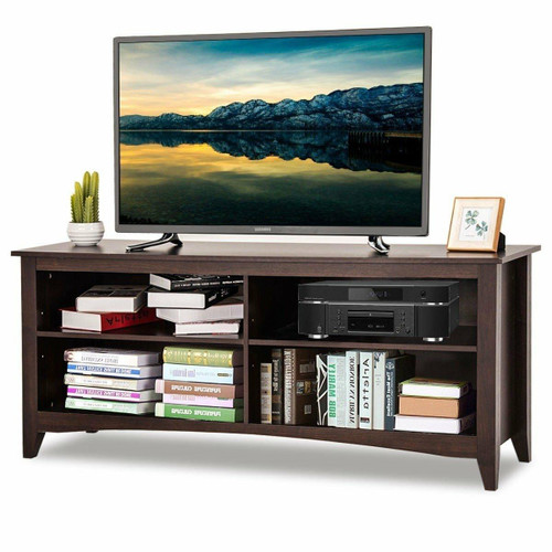 FastFurnishings Contemporary TV Stand for up to 60-inch TV in Espresso Finish