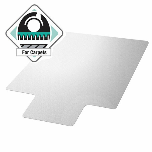 FastFurnishings Heavy Duty 47 x 35 inch Chair Mat with Lip for Low to Medium Pile Carpet Floor