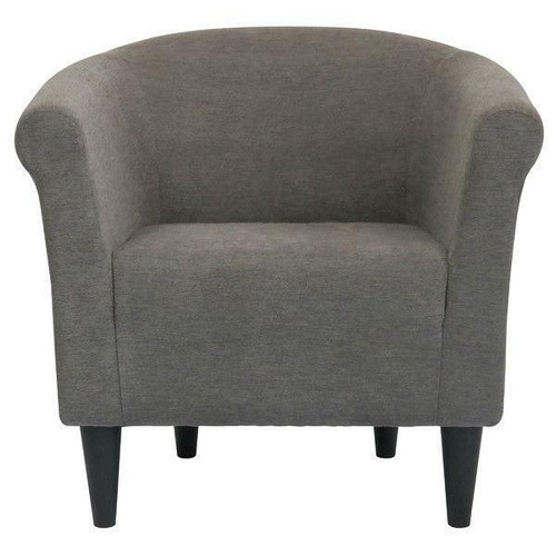 FastFurnishings Graphite Grey Modern Classic Upholstered Accent Arm Chair Club Chair